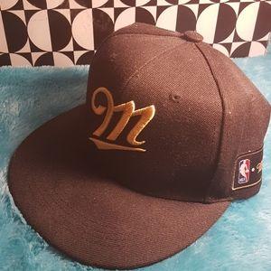 Brand new NBA Miller Genuine Draft Hat black gold